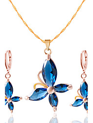 cheap -Women's Jewelry Set - Include Necklace / Earrings Black / Red / Blue For Wedding Party Daily / Casual