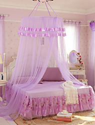 Mosquito Net Bed Canopy Curtain Round Lace Ruffle Hung Dome Netting Tent for All Size Bed