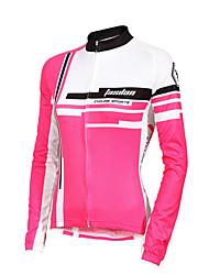 preiswerte -TASDAN Damen Langarm Fahrradtrikot - Rot / Rosa Fahhrad Trikot / Radtrikot, Rasche Trocknung, UV-resistant, Atmungsaktiv