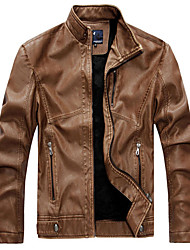 cheap -Men's Jacket - Solid Color, Modern Style