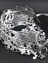 Signature Phantom Of The Opera Half Face Laser Cut  Mask Metal5002A4