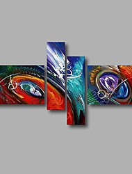 """Stretched (Ready to hang) Hand-Painted Oil Painting 64""""x40"""" Canvas Wall Art Modern Abstract Blue Purple Red"""