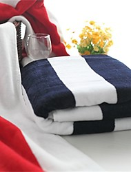 "1 PC Full Cotton Bath Towel  Super Soft 27"" by 55""  Stripe Pattern Strong Water Absorption Capacity  Anti-microbico"