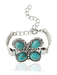 Bracelet Chaînes & Bracelets Alliage / Zircon Forme d'Animal Bohemia style Bijoux Cadeau Argent / Vert,1pc