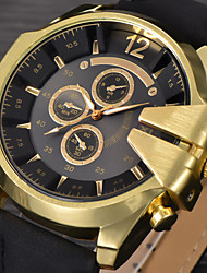 cheap -Big Mens Brand Leather Hours Male Sports Military Army Reloj Hombre Relogio Masculino montres de marque de Luxe Watch