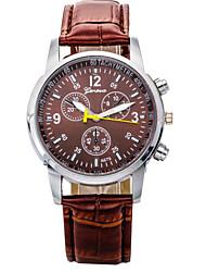 Orologio analogico, al quarzo, da uomo, impermeabile gz0009017 - Marrone