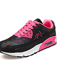 cheap -Women's Shoes Tulle Spring / Fall Comfort Sneakers Running Shoes / Walking Shoes Flat Heel Lace-up White / Black / Blue