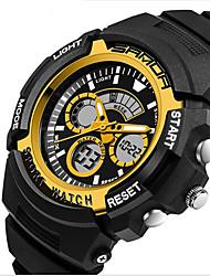 SANDA® Men's Fashion Sport Analog Digital Double Time Rubber Band Waterproof Watch Fashion Wrist Watch Cool Watch