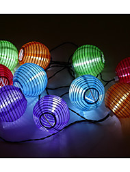 cheap -3m String Lights 10 LEDs 3528 SMD White Waterproof / Rechargeable <5 V / IP65