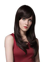 Donna Parrucche senza cappuccio per capelli umani # 30 # 33 2/33 18/613 30/613 Lungo Lisci Con frangia Parte laterale