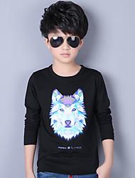 T-shirt / Completo e giacca Maschile Casual Con stampe Cotone Per tutte le stagioni / Primavera / Autunno Nero / Blu / Bianco