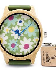 abordables -Mujer Reloj Deportivo Gran venta / / Piel Banda Lujo / Flor / Vintage Negro / Naranja / Verde