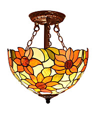Sunflower Shade with 2 Lights For Tiffany Half pendant lamp