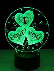 cheap -Acrylic 7 Color Changing Usb Charge 3D Heart I Love You Led Night Light With 3D Luminous Decor Table Lamp Nightlight