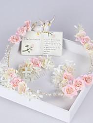 cheap -Lace Satin Alloy Headband Pink