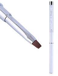 1шт ногтей инструменты искусства ухода кристалл гелевая ручка кисти ручка ручка искусства ногтя инструмент противоскользящие ручки, мягкие