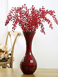 1 1 Une succursale Plastique Plantes Arbre de Noël Fleurs artificielles 34.6inch/88cm