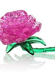 Quebra-cabeças Quebra-Cabeças 3D Quebra-Cabeças de Cristal Blocos de construção Brinquedos Faça Você Mesmo Rose