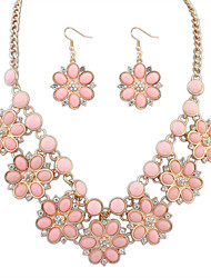cheap -Women's Jewelry Set - Vintage, European, Fashion Include Necklace / Earrings Pink / Light Blue / Rainbow For Wedding / Party / Daily