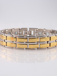 cheap -Men's Chain Bracelet / ID Bracelet - Stainless Steel Fashion Bracelet Golden For Christmas Gifts / Daily / Casual