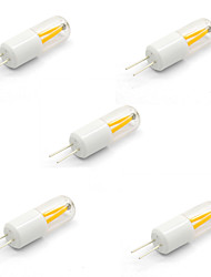 cheap -5pcs 1.5W 150lm lm G4 LED Bi-pin Lights T 2pcs leds COB Decorative Warm White Cold White 12V DC 12V