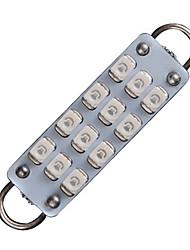 """cheap -2X RED 44mm 1.73"""" 12-SMD Festoon Rigid Loop LED Bulb Interior Light 561 562 563"""