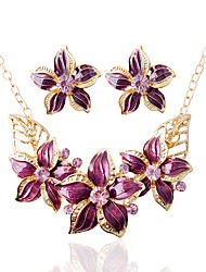 cheap -Women's Bridal Jewelry Sets Wedding Party Daily Earrings Necklaces