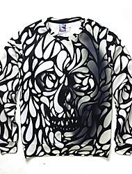 cheap -Men's Print Casual / Work / Formal / Sport Hoodie & Sweatshirt