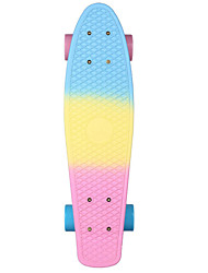 cheap -22 Inch Cruisers Skateboard Professional PP (Polypropylene) Abec-7 - Blue+Pink Rainbow