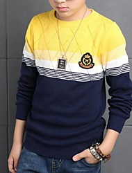 Boy's Casual/Daily Color Block Sweater & Cardigan,Cotton Spring / Fall Red / Yellow