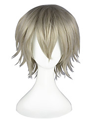 cheap -Cosplay Wigs Final Fantasy Hope Estheim Gray Short / Straight Anime Cosplay Wigs 35 CM Heat Resistant Fiber Male / Female