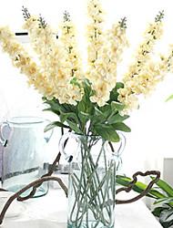preiswerte -1Branch 1 Ast Polyester / Kunststoff Lila Tisch-Blumen Künstliche Blumen 35.43inch/90cm