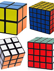 cheap -Rubik's Cube 4 PCS 2*2 5*5*5 4*4*4 3*3*3 2*2*2 Smooth Speed Cube Magic Cube Puzzle Cube Professional Level Speed ABS New Year Children's