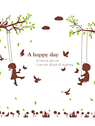 Swing Wall Decals Tree Decals Landscape Stickers Nursery Children's Room for Words & Quotes Home Decor
