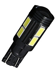 cheap -4X Xenon White T10 Side Wedge SAMSUNG 5630 10SMD LED License Map Light W5W 2825