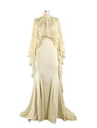sirena / tromba alta maglia del collo della corte treno charmeuse madre del vestito dalla sposa con il merletto da nameilisha