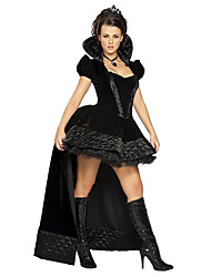 cheap -Queen Cosplay Costume Party Costume Female Christmas Halloween Carnival Festival / Holiday Halloween Costumes Black Vintage