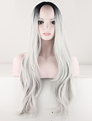 Women Sexy Ombre Wig Black Gray Wig Curly Costume Brazilian Malaysian Synthetic Hair Wig Ladies Fashion Wig