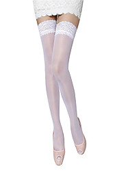 cheap -Women's Thin Stockings,Nylon Jacquard 1/box White