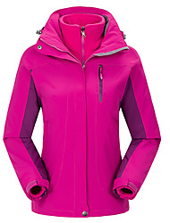 Ski Wear Ski/Snowboard Jackets Women's Winter Wear Polyester Solid Winter Clothing Thermal / Warm Windproof WearableCamping / Hiking