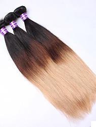 Недорогие -Омбре Евро-Азиатские волосы Прямые 12 месяцев 3 предмета волосы ткет