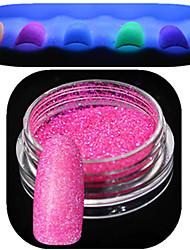 1 Bottle Nail Art Beautiful Noctilucent Powder Colorful Color Glitter Shining Nail Beauty Decoration Optional YG01-06