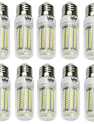 Недорогие -LED лампы типа Корн 600-800 lm E14 G9 B22 T 102 Светодиодные бусины SMD 2835 Декоративная Тёплый белый Холодный белый 220-240 V 110-130 V / 10 шт. / RoHs / CE