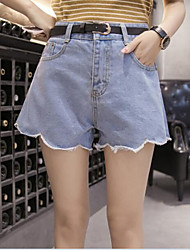 cheap -Women's Casual Shorts Jeans Pants - Solid Colored