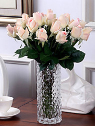 cheap -Artificial Flowers 10 Branch European Style Roses Tabletop Flower