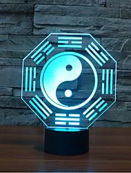 otto schemi di toccare oscuramento 3D LED luce di notte 7colorful lampada atmosfera decorazione di illuminazione novità luce di natale