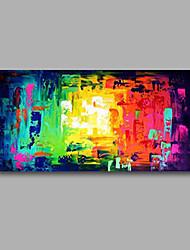abordables -Pintada a mano Abstracto Pinturas de óleo,Modern Un Panel Lienzos Pintura al óleo pintada a colgar For Decoración hogareña