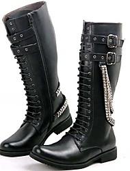 Недорогие -Муж. Fashion Boots Материал на заказ клиента Весна / Осень / Зима Ботинки Черный / Для вечеринки / ужина