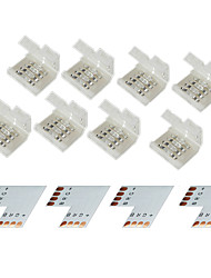 cheap -Z®ZDM 4 Group 4-Pins Solderless Connector For 10MM 5050 RGB LED Strip Lights