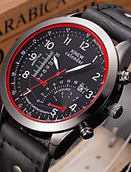 New Luxury Mens Watches Super Soft Leather Clock Men Calendar Quartz Wrist Watches For Men Reloj Relogio Masculino
